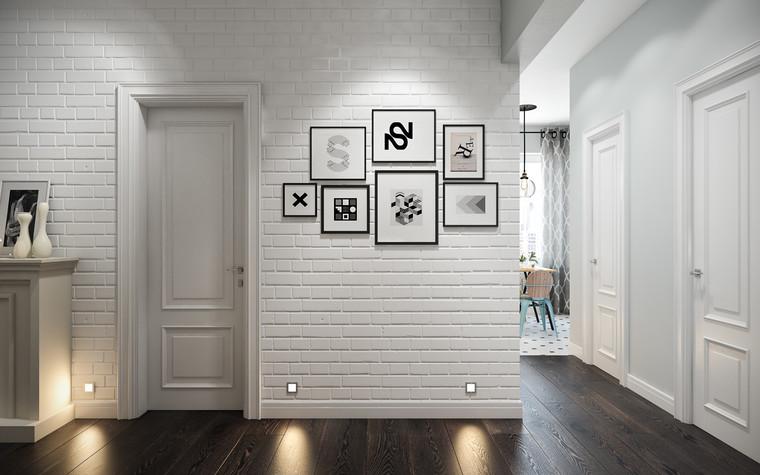 Квартира. прихожая из проекта Квартира в скандинавском стиле, фото №75035