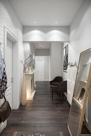 Квартира. прихожая из проекта Квартира в скандинавском стиле, фото №75036