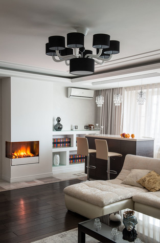 Квартира. гостиная из проекта Современность и немного истории, фото №75155