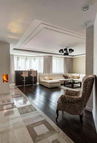 Квартира. гостиная из проекта Современность и немного истории, фото №75157