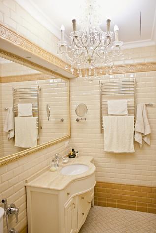 Квартира. ванная из проекта Квартира с видом на набережную, фото №75548