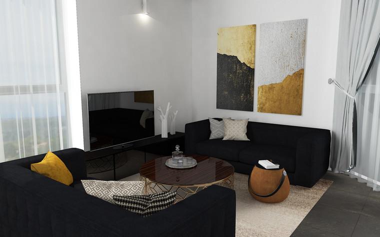 Квартира. гостиная из проекта В лучах южного солнца., фото №75613