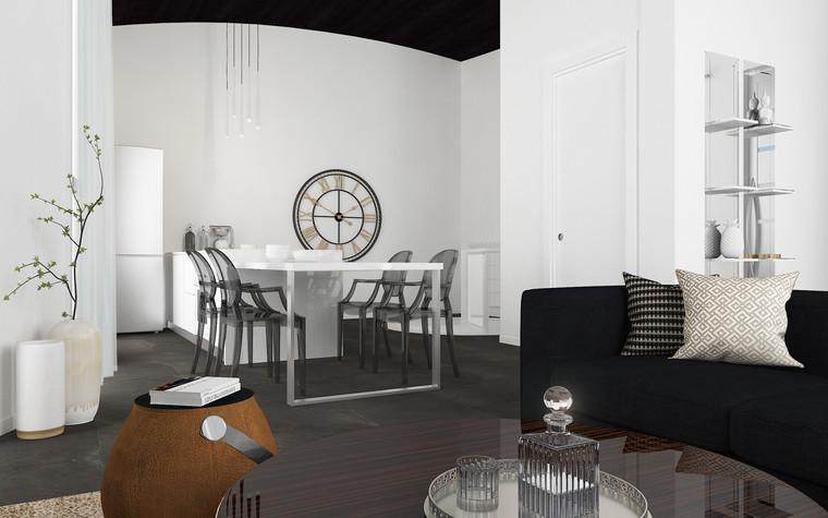 Квартира. кухня из проекта В лучах южного солнца., фото №75618
