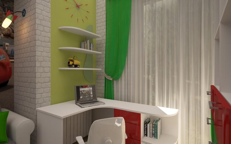 Квартира. детская из проекта Двухкомнатная квартира Харьков 75м2, фото №75654