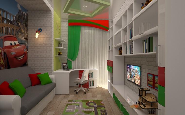 Квартира. детская из проекта Двухкомнатная квартира Харьков 75м2, фото №75656