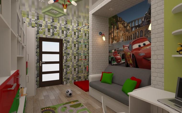 Квартира. детская из проекта Двухкомнатная квартира Харьков 75м2, фото №75657