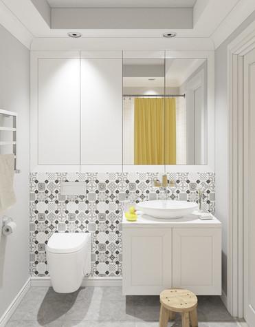 Квартира. ванная из проекта Квартира в Уфе, фото №75760
