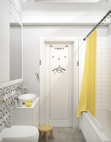 Квартира. ванная из проекта Квартира в Уфе, фото №75759