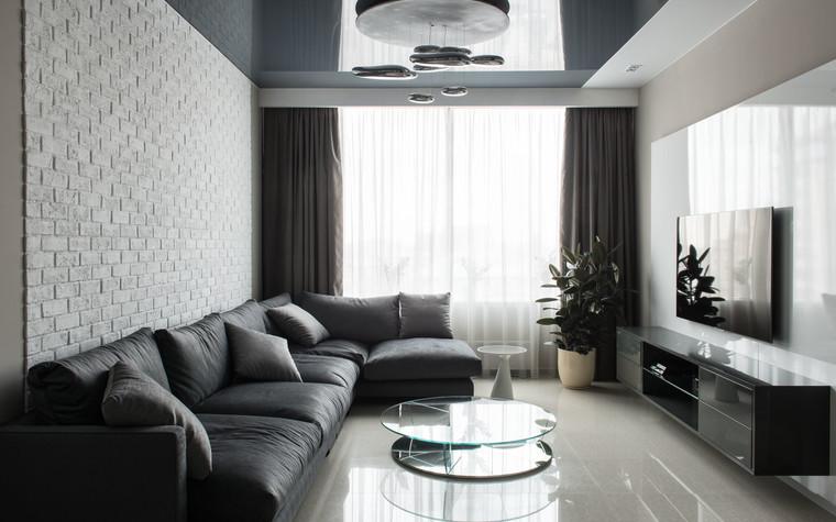 Квартира. гостиная из проекта Интерьеры квартиры на ул.Мосфильмовская, фото №76047