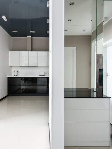 Квартира. кухня из проекта Интерьеры квартиры на ул.Мосфильмовская, фото №76062