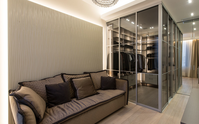 Квартира. гардеробная из проекта Интерьеры квартиры на ул.Мосфильмовская, фото №76064