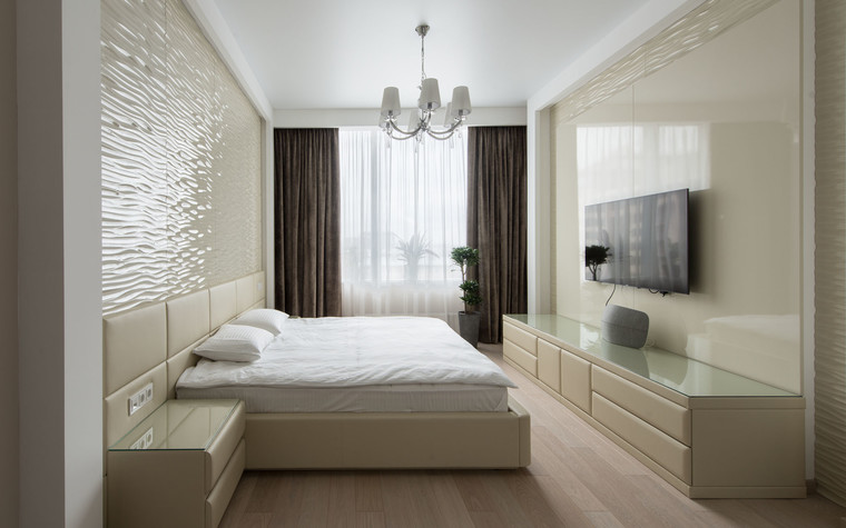 Квартира. спальня из проекта Интерьеры квартиры на ул.Мосфильмовская, фото №76067