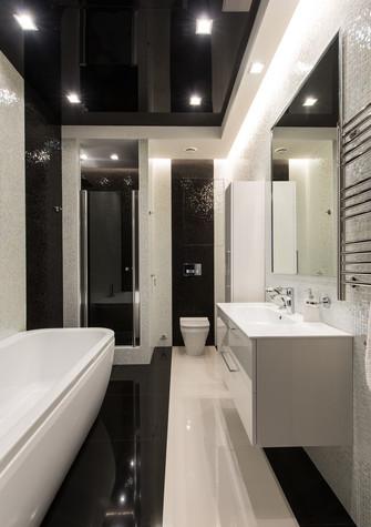 Квартира. ванная из проекта Интерьеры квартиры на ул.Мосфильмовская, фото №76070