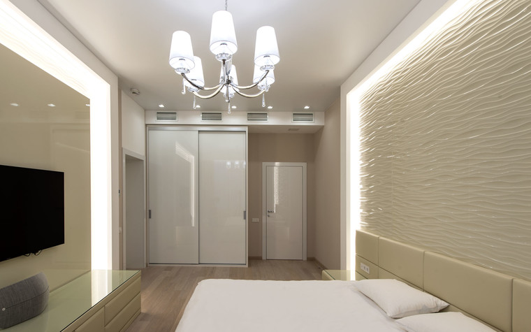 Квартира. спальня из проекта Интерьеры квартиры на ул.Мосфильмовская, фото №76069