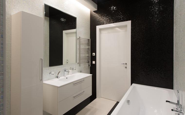 Квартира. ванная из проекта Интерьеры квартиры на ул.Мосфильмовская, фото №76071