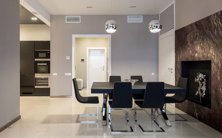 Квартира. кухня из проекта Интерьеры квартиры на ул.Мосфильмовская, фото №76059