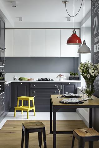 Квартира. кухня из проекта Квартира в серых тонах, фото №76153