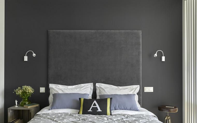 Квартира. спальня из проекта Квартира в серых тонах, фото №76147