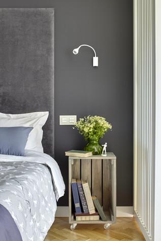 Квартира. спальня из проекта Квартира в серых тонах, фото №76148