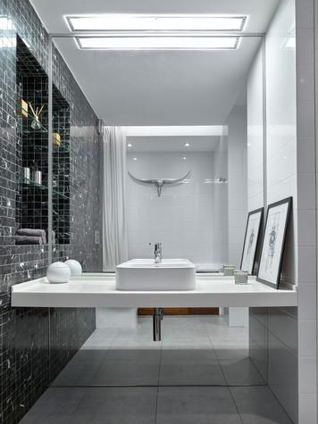 Квартира. ванная из проекта Квартира в серых тонах, фото №76144
