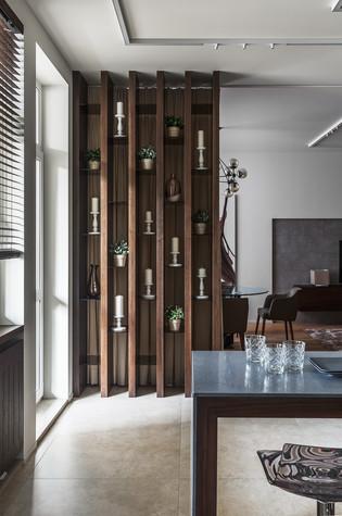 Квартира. кухня из проекта Апартаменты на 1-м Зачатьевском переулке, фото №77160