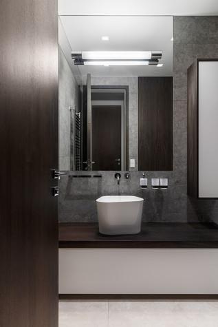 Квартира. ванная из проекта Апартаменты на 1-м Зачатьевском переулке, фото №77170