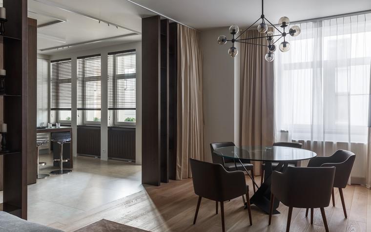 Квартира. кухня из проекта Апартаменты на 1-м Зачатьевском переулке, фото №77162