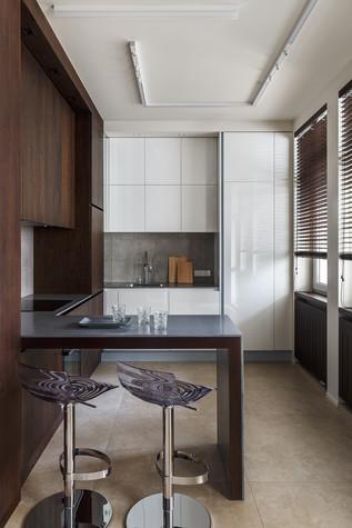 Квартира. кухня из проекта Апартаменты на 1-м Зачатьевском переулке, фото №77161
