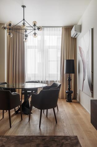 Квартира. столовая из проекта Апартаменты на 1-м Зачатьевском переулке, фото №77173