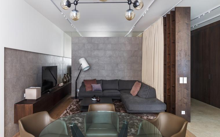 Квартира. гостиная из проекта Апартаменты на 1-м Зачатьевском переулке, фото №77157