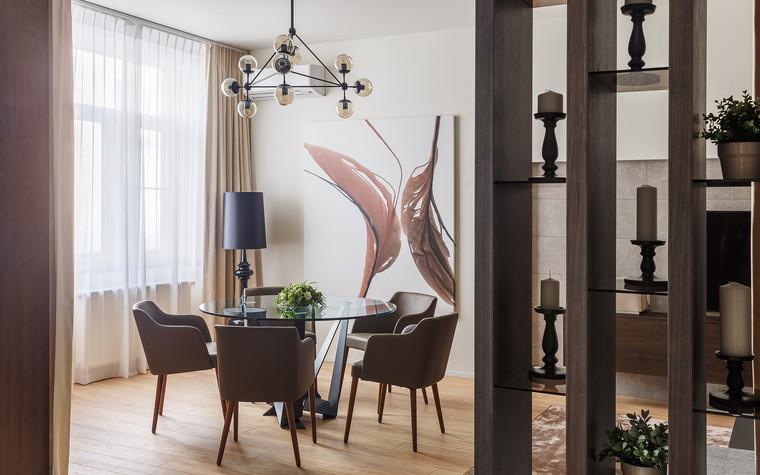 Квартира. столовая из проекта Апартаменты на 1-м Зачатьевском переулке, фото №77174