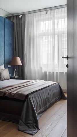 Квартира. спальня из проекта Апартаменты на 1-м Зачатьевском переулке, фото №77163