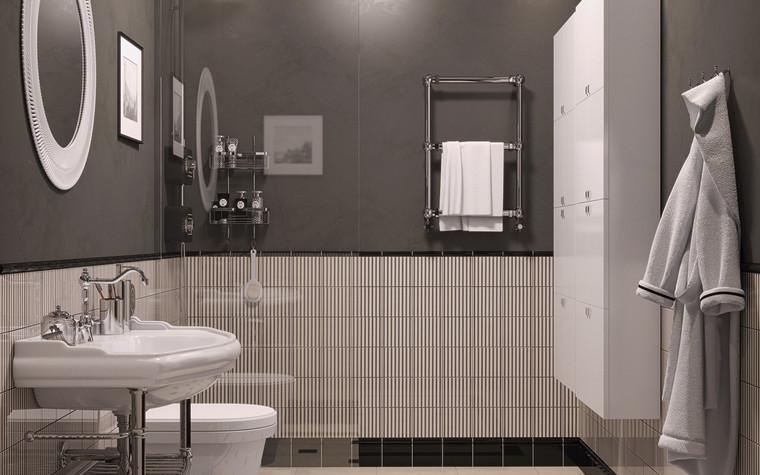 Квартира. ванная из проекта Ар-Деко апартаменты, фото №77431