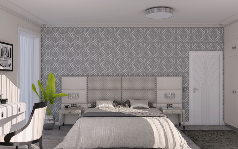 Квартира. спальня из проекта Ар-Деко апартаменты, фото №77434