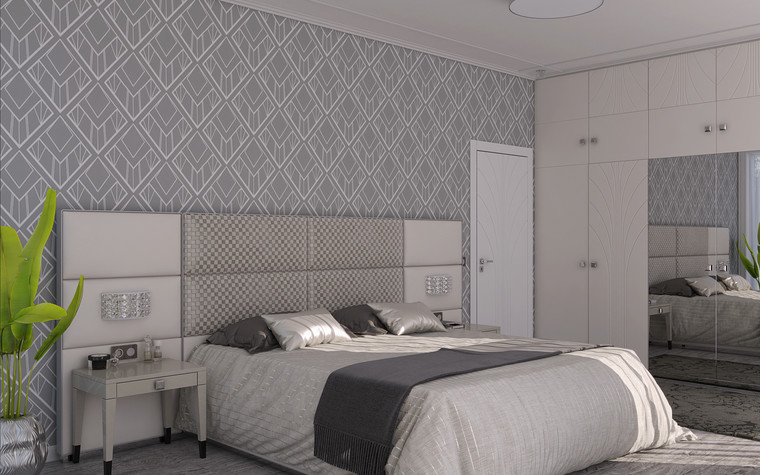 Квартира. спальня из проекта Ар-Деко апартаменты, фото №77435