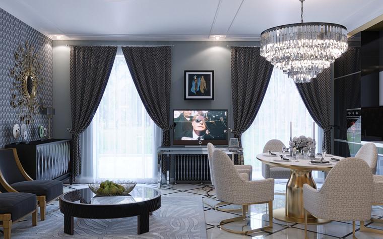 Квартира. гостиная из проекта Ар-Деко апартаменты, фото №77425
