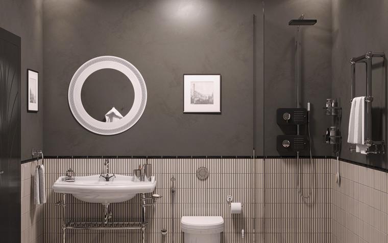 Квартира. ванная из проекта Ар-Деко апартаменты, фото №77430