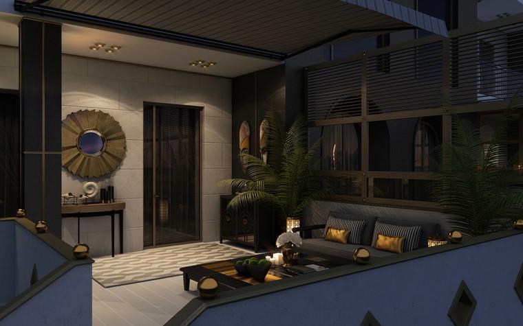 Квартира. веранда лоджия из проекта Ар-Деко апартаменты, фото №77432