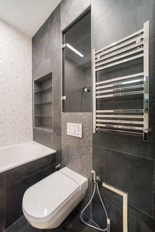Квартира. ванная из проекта Функциональный минимализм, фото №78221