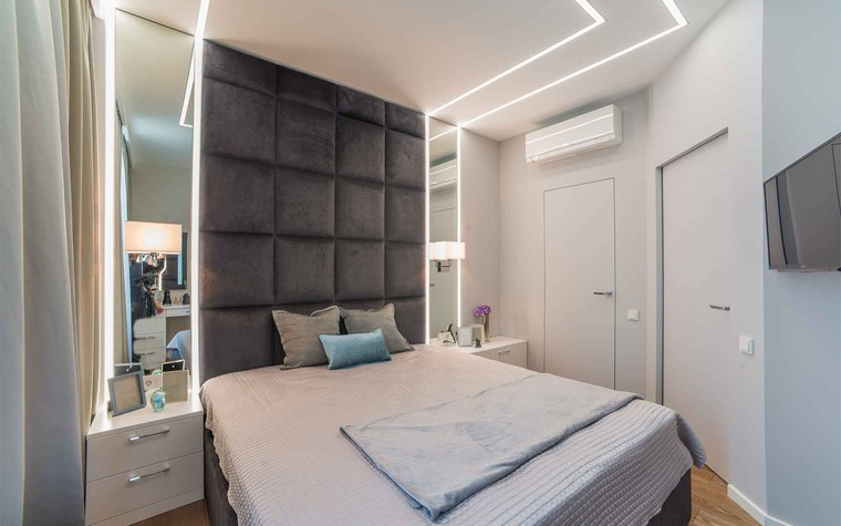 Квартира. спальня из проекта Функциональный минимализм, фото №78291