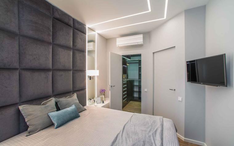 Квартира. спальня из проекта Функциональный минимализм, фото №78292