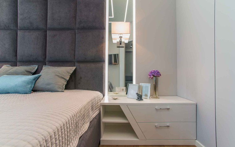 Квартира. спальня из проекта Функциональный минимализм, фото №78293