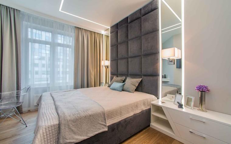 Квартира. спальня из проекта Функциональный минимализм, фото №78294