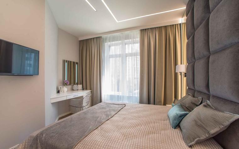 Квартира. спальня из проекта Функциональный минимализм, фото №78296