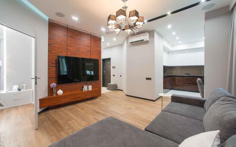 Квартира. гостиная из проекта Функциональный минимализм, фото №78212
