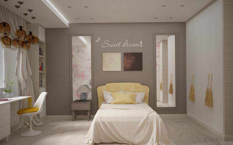 Квартира. спальня из проекта Квартира для большой семьи, фото №79051