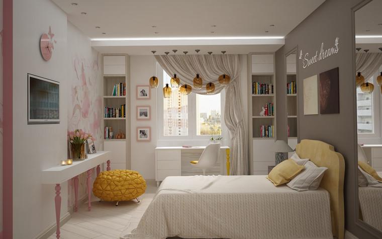 Квартира. спальня из проекта Квартира для большой семьи, фото №79052