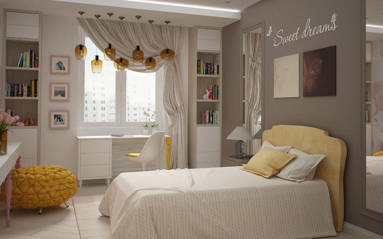 Квартира. спальня из проекта Квартира для большой семьи, фото №79053
