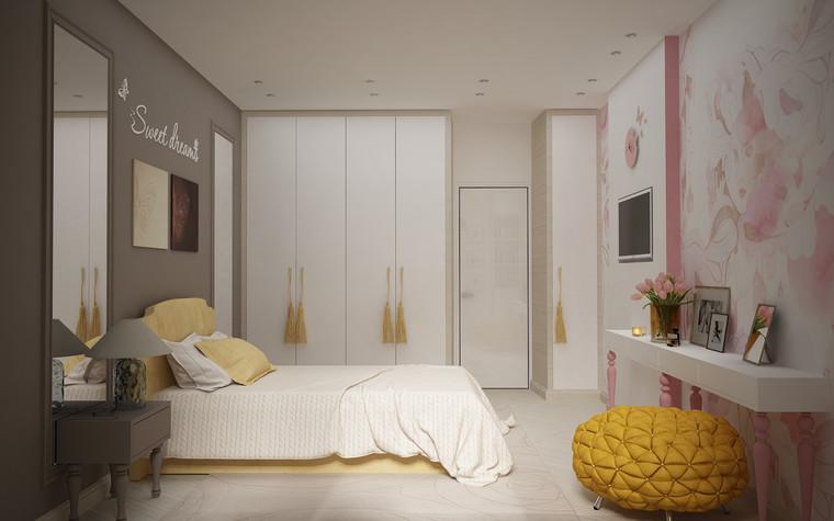 Квартира. спальня из проекта Квартира для большой семьи, фото №79054