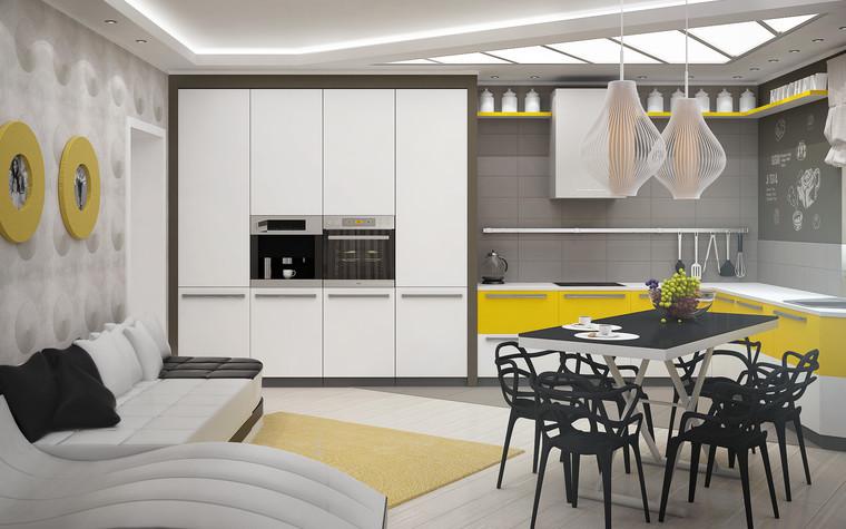 Квартира. кухня из проекта Квартира для большой семьи, фото №79042